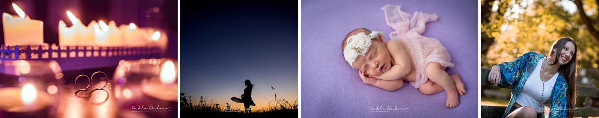 Fotos de boda, book quince y newborn para la seccion ontacto web autor Pablo Dubois Fotografía